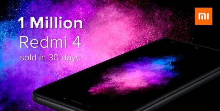Xiaomi sold 1 million Redmi 4 phones in India