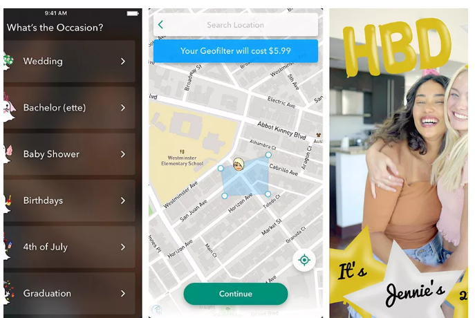 You can now design custom Snapchat geofilters