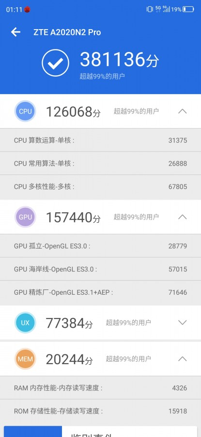 ZTE Axon 10 Pro 5G tops AnTuTu leak