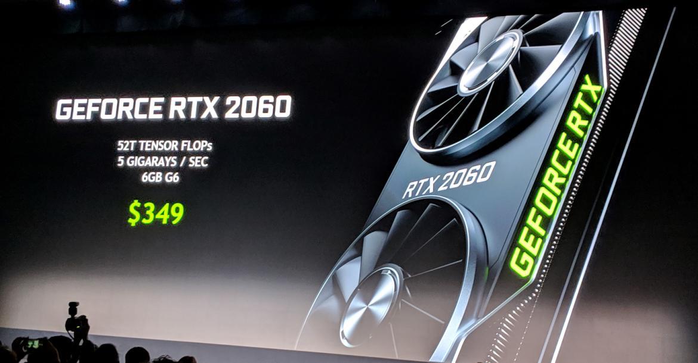 Nvidia تكشف عن كارت الشاشة RTX 2060 الذي طال انتظاره  CES2019