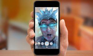 add an animated selfie lens