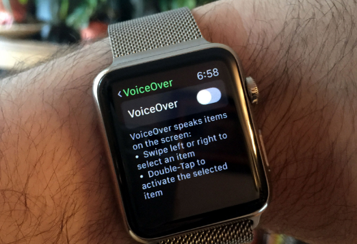 apple watch voice over
