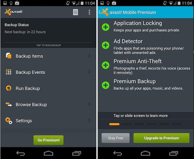 avast- antivirus software -Android