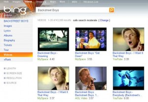 Bing video search