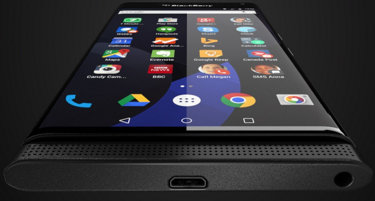 blackberry priv Curved screen
