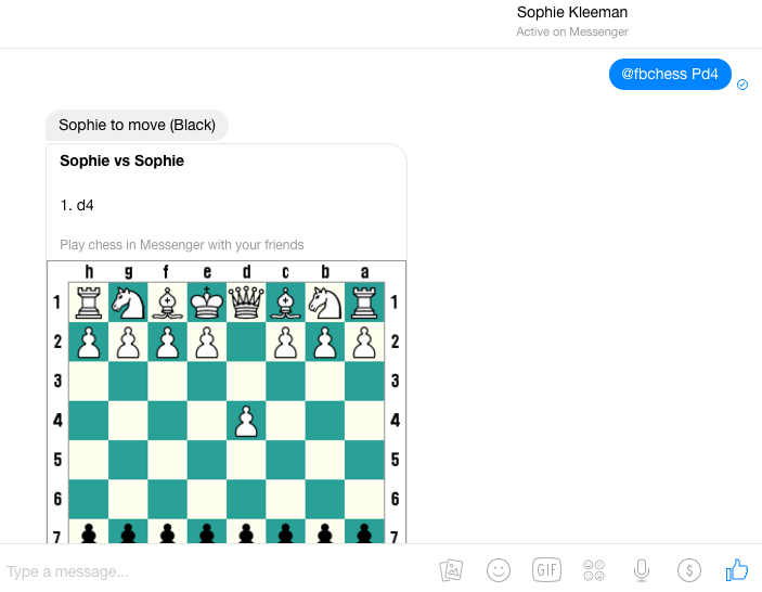 chess-Facebook Messenger