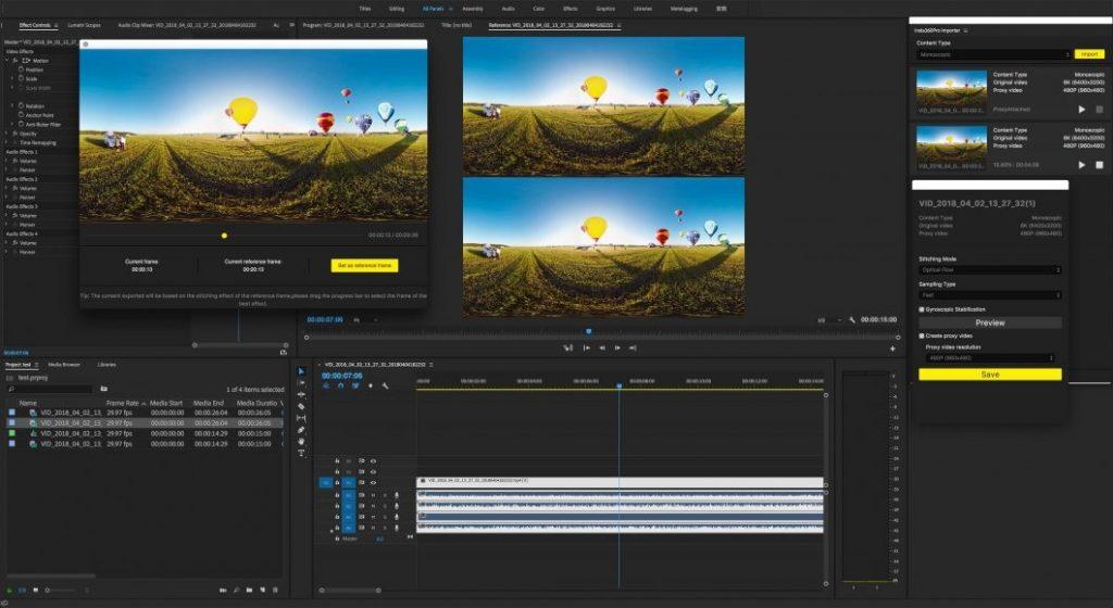 Adobe Premiere يجعل من السهل تعديل لقطات Insta360 Pro