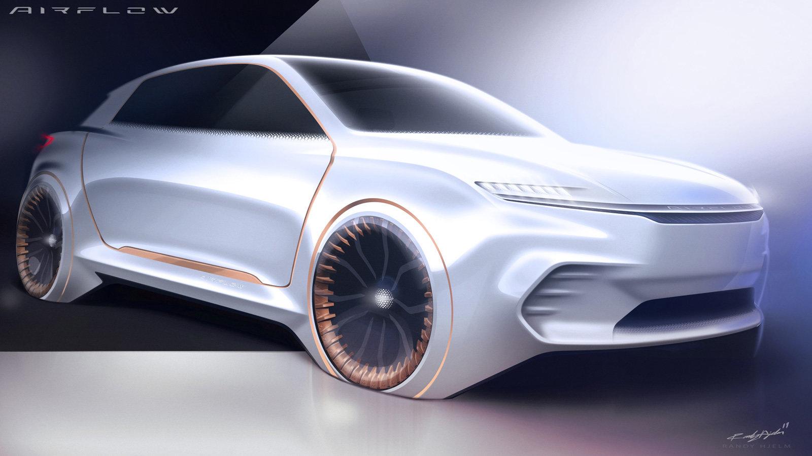 صورة Fiat Chrysler تكشف عن تصميم سيارة Airflow Vision في #CES2020