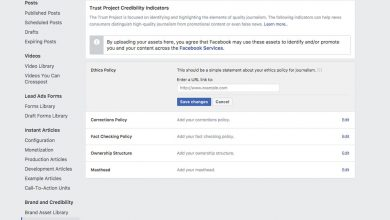 +facebook trust indicators fake news trust project