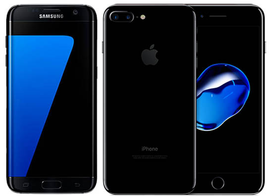 galaxy s7 & iphone 7 plus