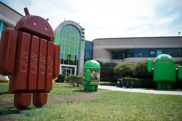 google-campus-statues