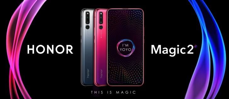 هاتف Honor Magic 2 يصل مع ستة كاميرات ومستشعر للبصمة تحت الشاشة