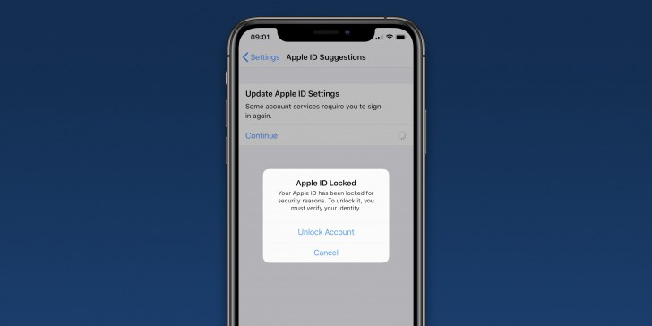 iPhone-Apple ID accounts locked
