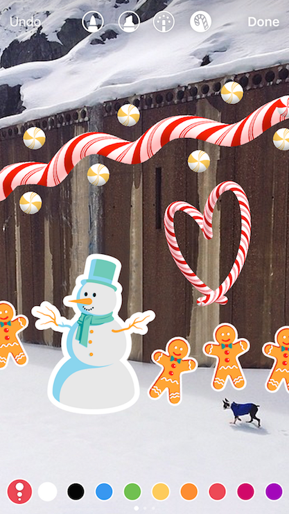 instagram-update-Candy Cane Brush-Holiday Stickers