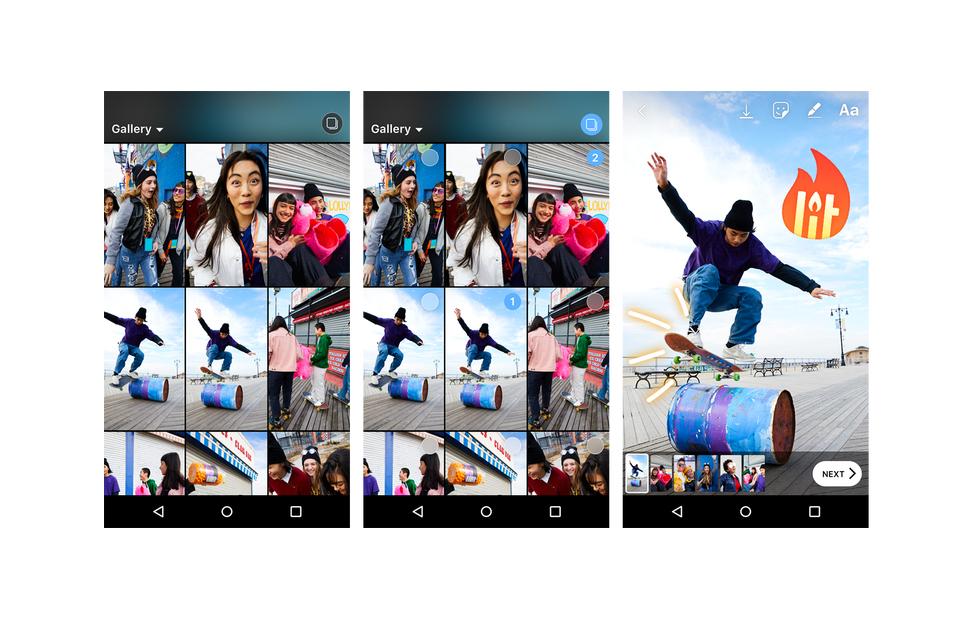 قصص انستجرام تدعم الآن مشاركة 10 صور أو مقاطع فيديو في وقت واحد