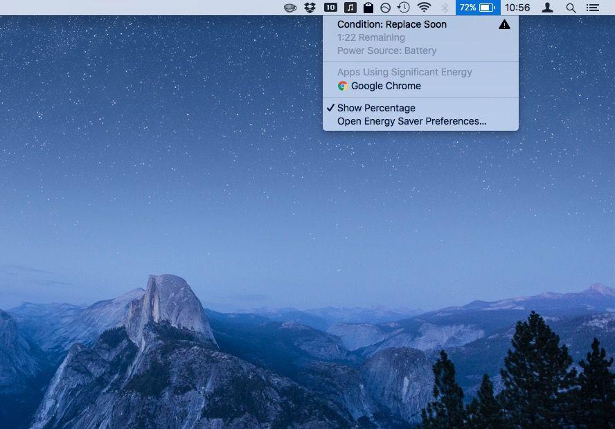 macbook battery status