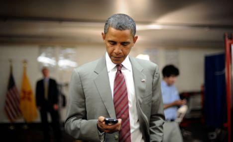 Obama facing Blackberry blackout