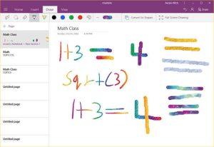 onenote ink effects