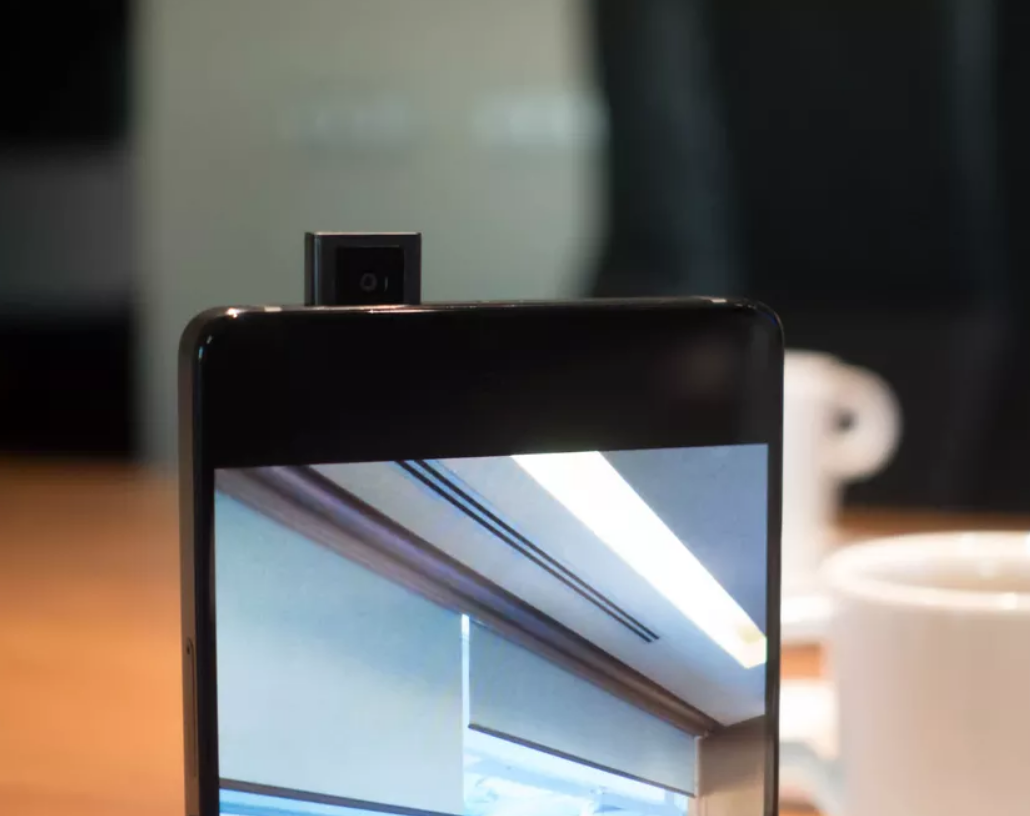 retracting selfie camera