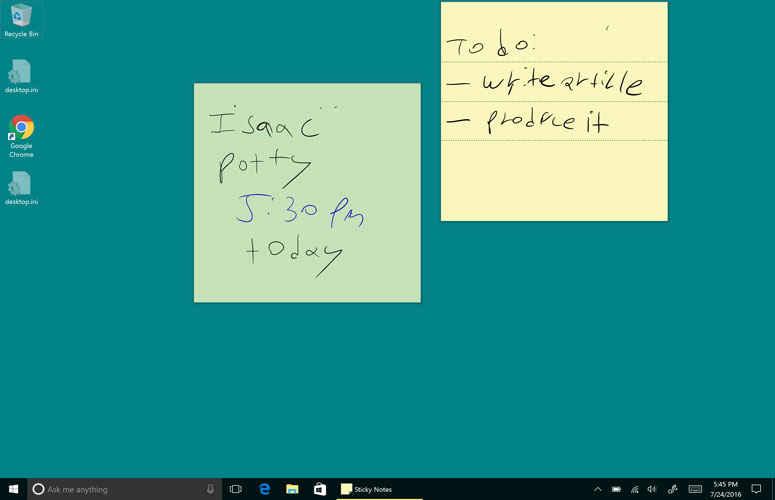 sticky notes0