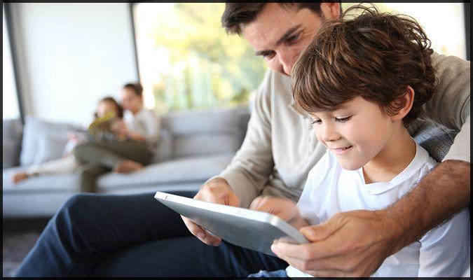 tablet bg dad son