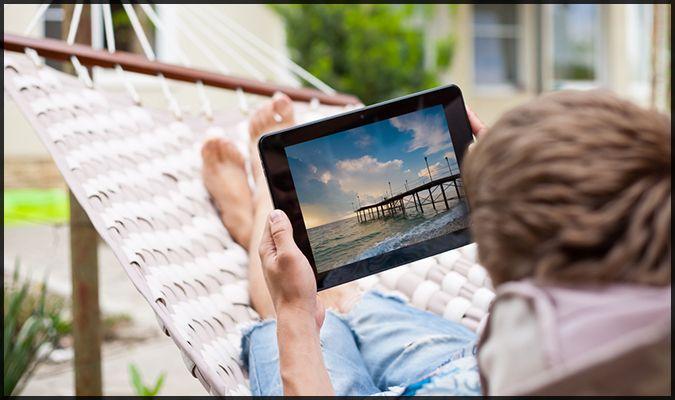 tablet bg hammock relax