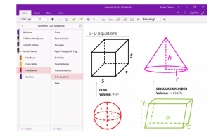 update for OneNote