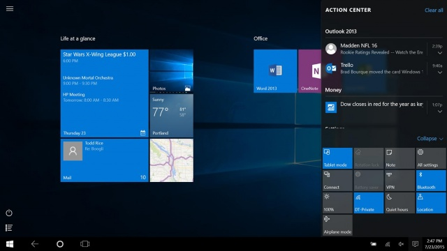 windows-10-tablet-Action Center