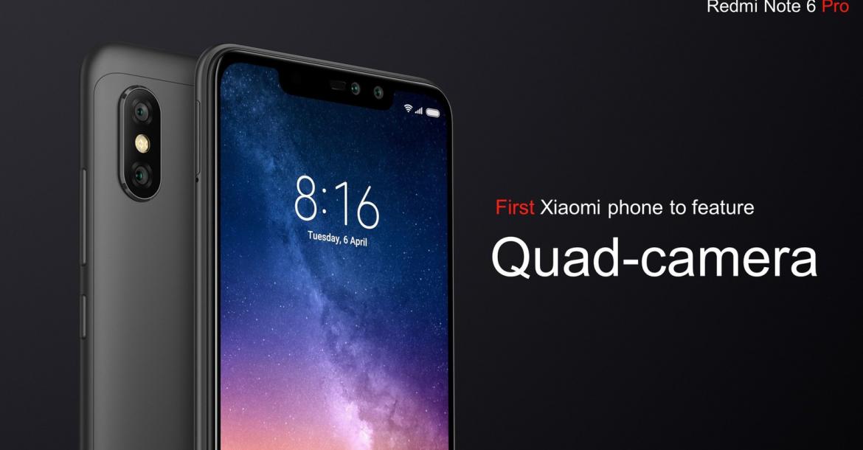 هاتف Redmi Note 6 Pro يقدم شاشة 626 إنش بسعر 215 دولار